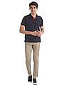 U.S. Polo Assn. Brown Austin Trim Regular Fit Patterned Trousers
