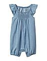 GAP Baby Chambray Flutter Shorty One-Piece
