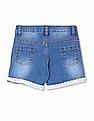 Donuts Girls Crochet Hem Denim Shorts
