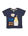 Donuts Boys Printed Front Round Neck T-Shirt