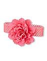 The Children's Place Toddler Girl Oversized Mix-Fabric Flower Crochet Headwrap