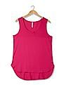 U.S. Polo Assn. Women Regular Fit Ribbed Yoke Top
