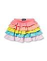 The Children's Place Toddler Girl Multi Colour Rainbow Tiered Ruffle Skirt