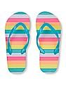 The Children's Place Girls Striped Flip Flops