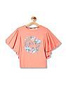 U.S. Polo Assn. Kids Girls Graphic Print Knit Top