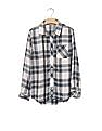 GAP Girls Blue Plaid Twill Pocket Shirt