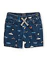 The Children's Place Toddler Boy Pull-On Beach Print Denim Shorts