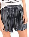 GAP Women Blue Stripe Drapey Shorts