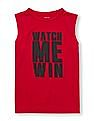 The Children's Place Boys Red Contrast Graphic Knit Tank