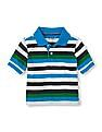 The Children's Place Baby Boy Short Sleeve Stripe Polo Shirt