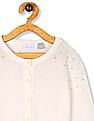 The Children's Place White Girls Pearl Embellished Knit Cardigan