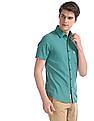 U.S. Polo Assn. Green Spread Collar Solid Shirt