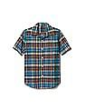 GAP Boys Plaid Madras Short Sleeve Shirt