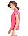 GAP Women Pink Vintage Wash V-Neck Tee