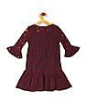 U.S. Polo Assn. Kids Navy And Red Girls Lace Dress