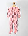 GAP Baby Pink Mini Heart Footed Sleep One Piece