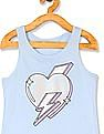 The Children's Place Girls Sleeveless Crochet-Back Embellished Graphic Tank Top
