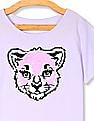 The Children's Place Purple Girls Flippy Sequin Vented Hem Top