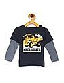 The Children's Place Toddler Boy Blue Doctor Sleeve #Messmaker Graphic T-Shirt