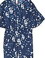 U.S. Polo Assn. Kids Girls Floral Printed Jumpsuit