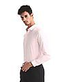 Excalibur Pink Slim Fit Chevron Pattern Shirt