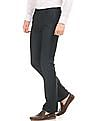 Arrow Solid Slim Fit Trousers