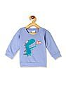 Donuts Blue Boys Dinosaur Graphic Sweatshirt