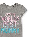 The Children's Place Toddler Girl Short Sleeve Glitter 'I Have The World's Best Mommy' Graphic Tee