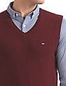 Arrow Sports Regular Fit V-Neck Sweater Vest